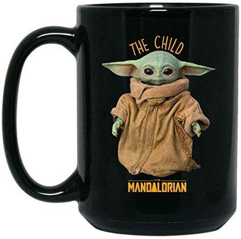 Star War Baby Coffee I Like Baby Yoda Holding Coffee Cup 11oz 15oz Black Mug