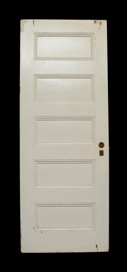 five panel white doors: architectural salvage online store, buy
