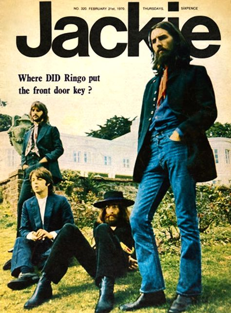 Suddenly Jackie looks like some new, modern day hipster title when in fact this is from John Lennon Paul Mccartney, John Lennon Beatles, The Beatles, Beatles Books, Magazine Front Cover, Magazine Covers, 1970s Music, Music Magazines, Girls Magazine