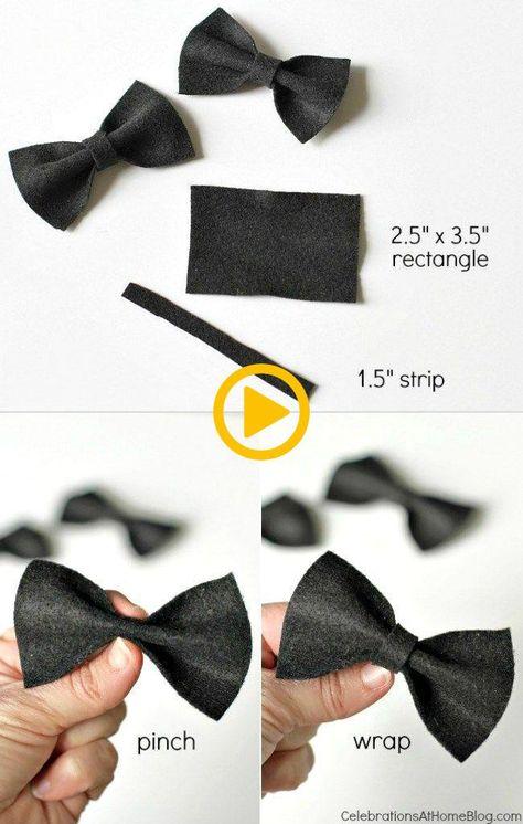 DIY Mini strikjes om het feestje aan te kleden,  #aan #DIY #feestje #Het #kleden #Mini #strik...