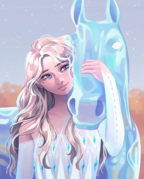"Tadpole on Twitter: ""Elsa and Nokk ❄ #elsa #Frozen2… """