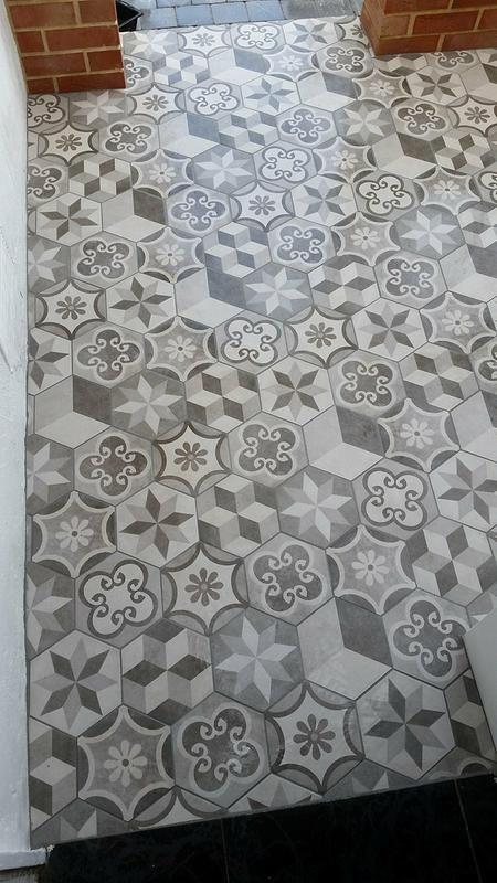 Carrelage Mur Et Sol Forte Pierre Calcaire Mat L 21 6 X L 25 Cm Street Tiles Hexagon Tiles Flooring