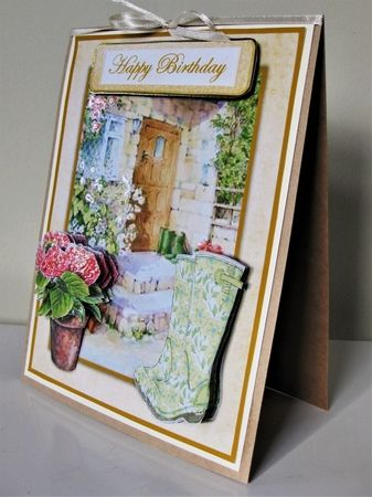 Cottage Card 5 A5 Various Sentiments Decoupage Sheet Quick Card Cup940239 93448 Craftsuprint Card Craft Quick Cards Decoupage