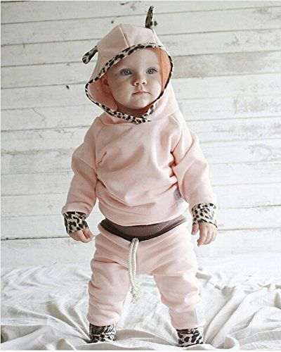Newborn Baby Girl Boy Ears Hoodie Toddler Jumpsuit Coat Clothes Outfit Romper TS