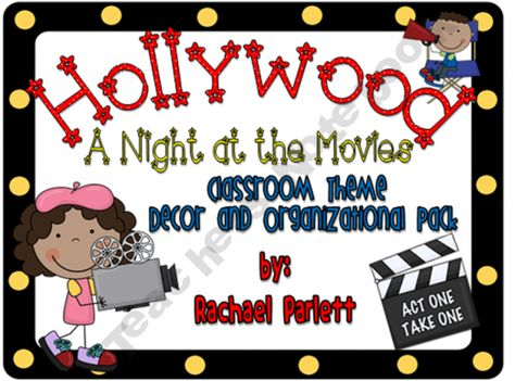 Hollywood/Movie Theme Classroom Decor and Organizational Pack product from The-Happy-Teacher on TeachersNotebook.com
