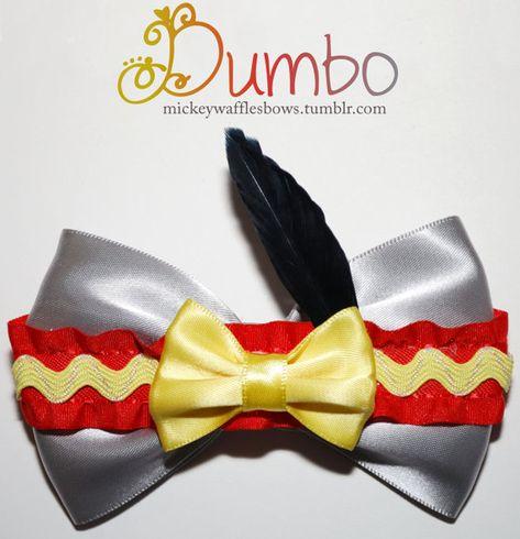Dumbo Inspired Pinwheel Bow