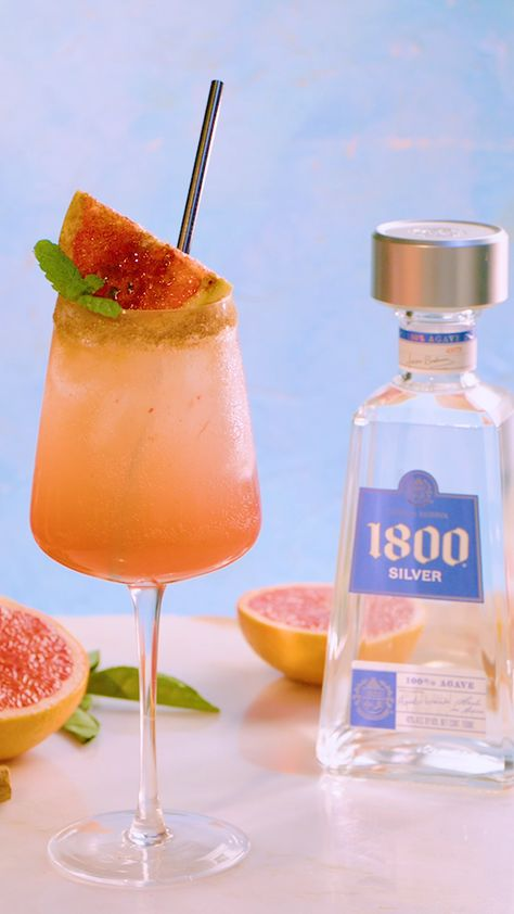 The iconic swizzle just got an upgrade, with the help of 1800 Tequila. Fresh grapefruit, warm cinnamon and premium 100% blue agave tequila make this cocktail a new classic. #ad