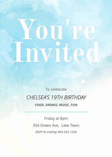Party Invitation Template Free Beautiful 16 Free Invitation Card Templates In 2020 Party Invite Template Free Printable Birthday Invitations Printable Invitation Card