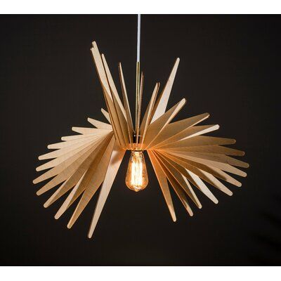 Wrought Studio Isamar 1 Light Geometric Pendant Wayfair Wood Lamps Pendant Lamp Wood Pendant Light