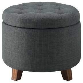Tufted Round Storage Ottoman Charcoal Threshold Round Storage Ottoman Storage Ottoman Ottoman