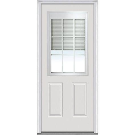 Entry Door With Mini Blinds Built In Mmi Door Steel Doors Exterior Prehung Doors