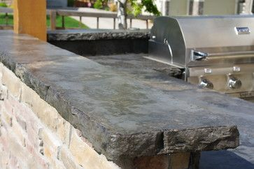 Rustic Outdoor Kitchens Rustic Outdoor Concrete Countertop