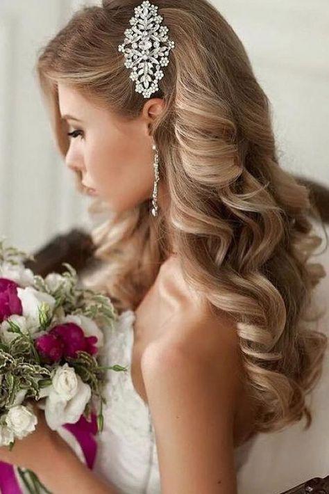 33 Wedding Hairstyles With Hair Down ❤ wedding hairstyles down curly long blonde with side silver pin elstile #weddingforward #wedding #bride #weddinghairstyles #weddinghairstylesdown #HairStylesMedium  #HairStyles2020  #HairStylesDrawing