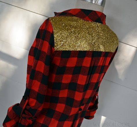 Glitter Plaid Shirt.