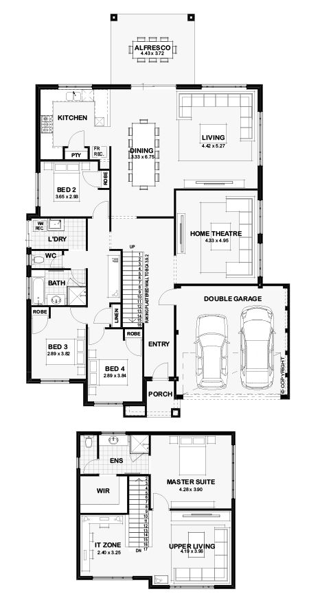 Floor Plans Of The Visage By Ben Trager Homes Floor Plans House Design House Plans