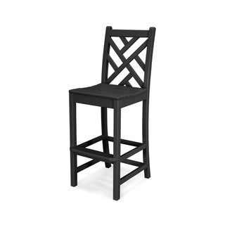 Polywood Chippendale Outdoor Bar Side Chair White Recycled