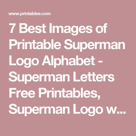 List of Pinterest superman logo template free printable pictures