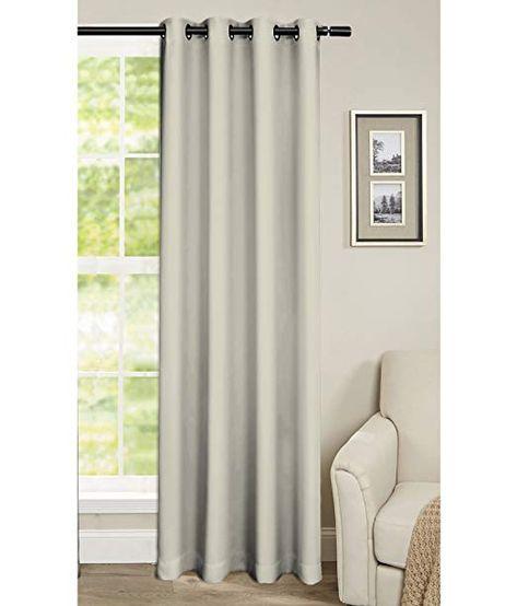 Cliths 1 Piece Imported Light Beige Grommet Blackout Curtain 4 5