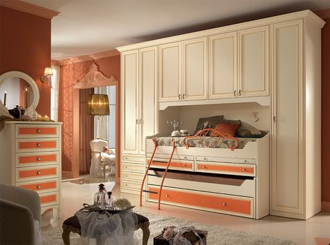 Camerette A Ponte Spar.Classic Italian Kids Bedroom Set Diletta G114 By Spar