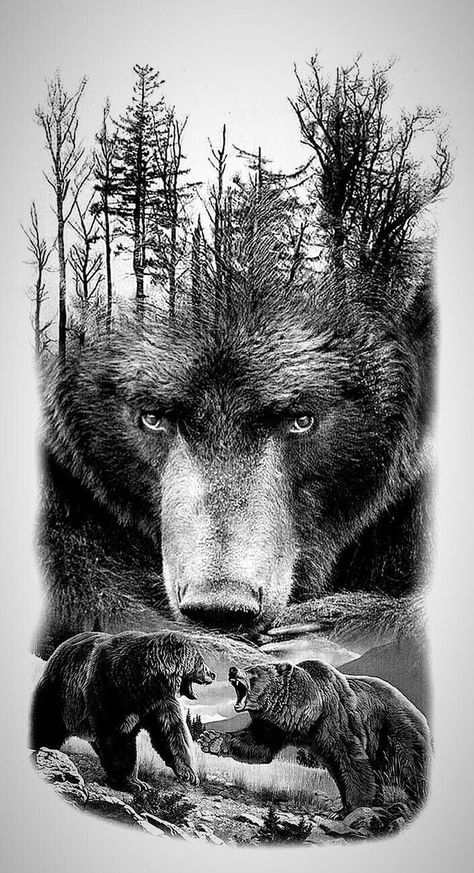 Beautiful grizzly bear art!- Beautiful grizzly bear art! – – # Grizzly bear art # beautiful   -#BlackworkTattoolines #BlackworkTattoomandala #BlackworkTattoomasculina #BlackworkTattooowl #BlackworkTattoorose