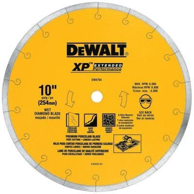 Dewalt Xp4 10 In X 1 16 In Premium Wet Diamond Blade Sawreviewed Besttilesaw Tilesaw