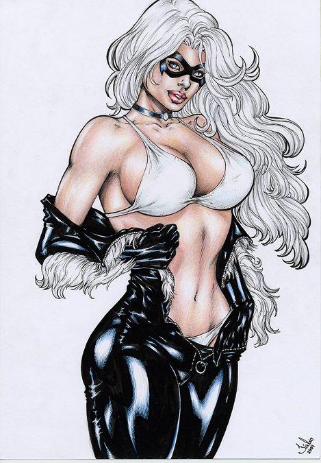 Sexy Naked Black Cat