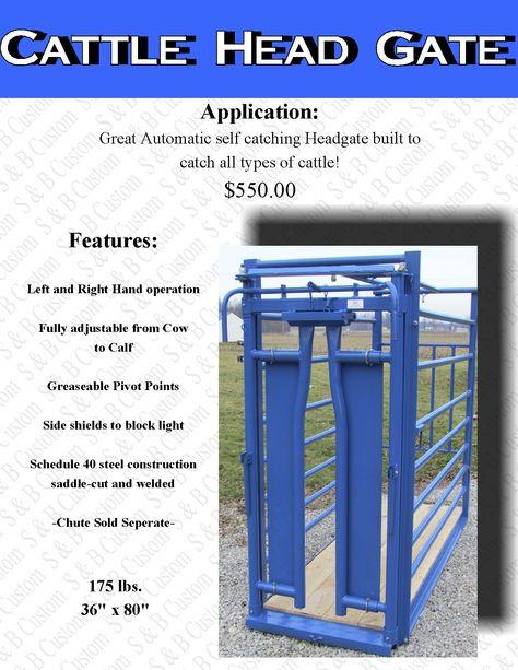 cattle head gate