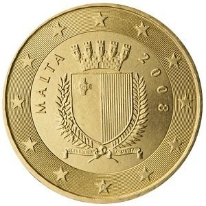 10 Cent As With Many Other Countries In The Euro Zone Maltese Euro Coins Have Three Motifs One For The Copper Coloured Coins 1 Ce Euro Coins Coins Malta
