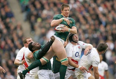 Bakkies Botha of South Africa wins the lineout during the Investec Challenge match between England and South Africa at Twickenham on November 22