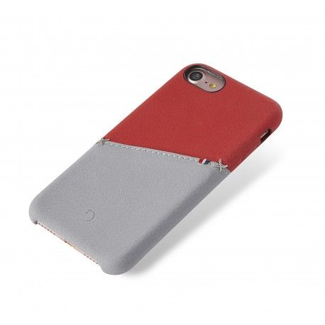 huge discount ca53f 0a342 Decoded Leather Snap Case 8-7-6s Plus-Red/Grey-DA6IPO7PLSO1RDGY ...