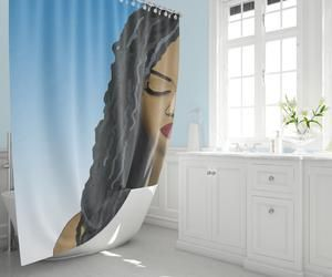 Melanin Magic Shower Curtain Personnages
