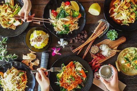 Vegan Thai Food At Phat Elephant In Brisbane S Cbd Vegetarian Cuisine Vegan Spring Rolls Vegan Restaurants