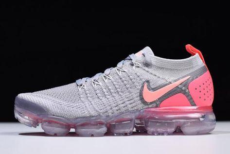 4fa56560536 Women s Nike Air VaporMax Flyknit 2 Atmosphere Grey Crimson Pulse 942843-005