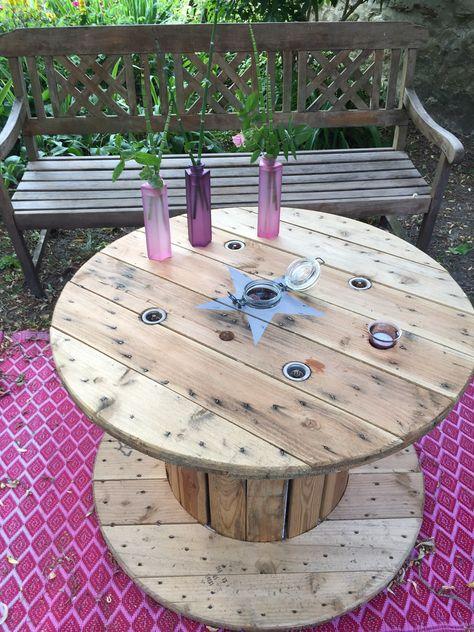 Détourner un touret en table basse au jardin en 2019 | Table ...