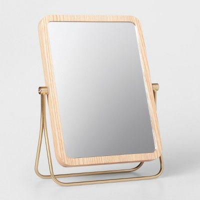 Wood And Soft Brass Vanity Mirror Natural Threshold Target