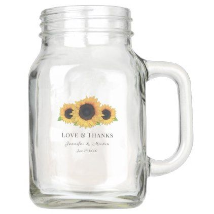 rustic wedding favors for guests personalized mason jars wedding glasses sunflower wedding Mason jar wedding favors barn wedding