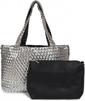 styleBREAKER XXL Wendetasche in Flecht Optik, Shopper Tasche