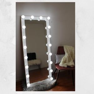 Xl 40 X 28 Hollywood Style Lighted Vanity Makeup Mirror Etsy In 2021 With Lights