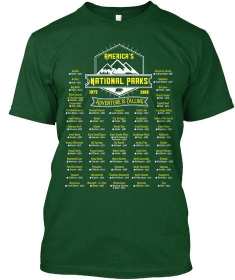 Mark Your Parks 60 National Parks 2018 Deep Forest T Shirt Front National Parks National Parks America American National Parks
