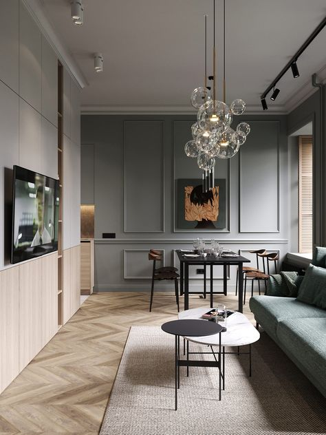 A Moody St.Petersburgh Apartment Interior Under 75 Square Meters (Includes Floor Plan)