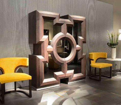 Original Design Bar Cabinet Wood Parma Showcase By Paco Camus