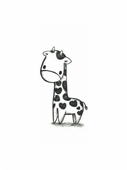 51 Ideas Drawing Animals Giraffe Tattoo Ideas Giraffe Tattoos Cute Giraffe Drawing Cute Drawings