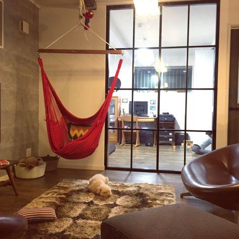 三井のリフォーム 犬と暮らす家 ハンモックチェア Switch 室内窓 など