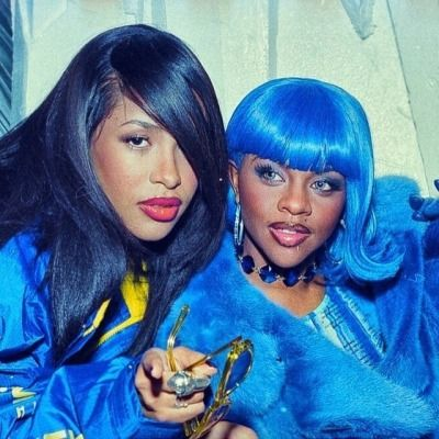 Image Result For Lil Kim Blue Hair Lil Kim Lil Kim 90s Aaliyah