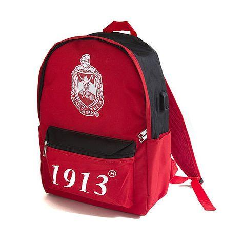 American College Fraternity Inspired Initials Rucksack Custom Varsity Backpack