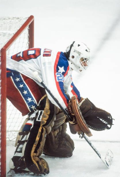 Goalie Mark Behrend Of The Usa Plays In A Match Against During The Picture Id666193108 417 612 Team Usa Hockey Usa Hockey Hockey Goalie