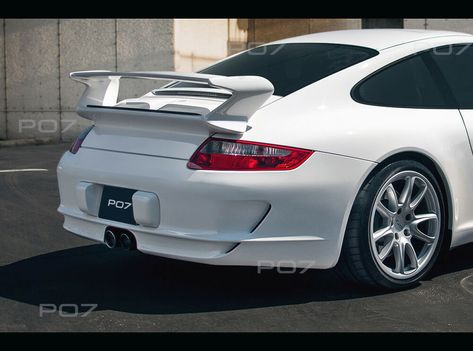 PORSCHE 911 997 Spoiler Heckspoiler, Heckklappe, Rear Spoiler Roof GT GT3 GTR
