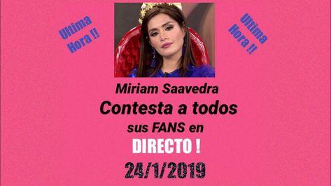 Miriam Saavedra contesta a todos sus fans! - YouTube