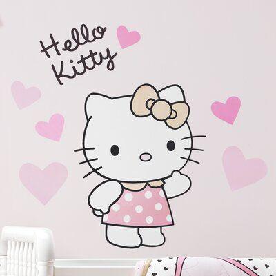 Bedtime Originals Hello Kitty Luv Hearts Wall Decal Hello Kitty Room Decor Hello Kitty Printables Hello Kitty