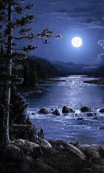 Night Sky Beautiful Moon Nature Pictures Beautiful Nature